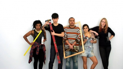 2013 interns. Left to right: Sabrina Yegela, Lin Bo, Will Bryant, Luca Molnar, and Lexi Campbell.