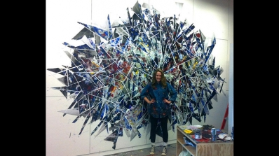 Lexi Campbell '13 in her studio