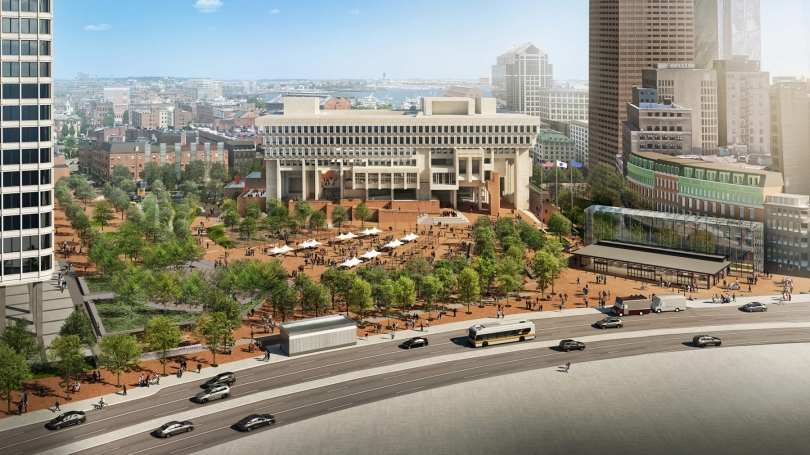 Plans for Boston City Hall renovation by Sasaki